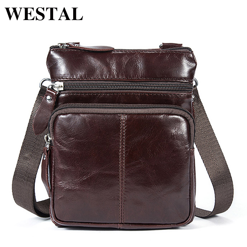 WESTAL Small Messenger Bags Men Women Bag Genuine Leather Designer Crossbody Bag Shoulder Fashion Flap Casual Zipper 701 mva genuine leather men s messenger bag men bag leather male flap small zipper casual shoulder crossbody bags for men bolsas