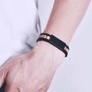 Image 4 - BOBO BIRD Wood Bracelet For Women Free Engraved name Men Bracelet Stainless Steel Bangle Anniversary Gift for Him pulseras mujer