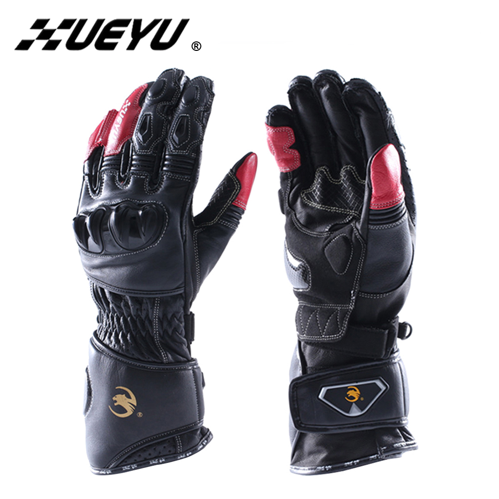 XUEYU Motorcycle Gloves Genuine Leather Supermoto Street Bike Moto Racing Protective Gear Guantes Motorbike Riding Luvas MTO-017