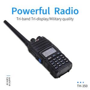 Image 1 - NEW TYT TH 350 Walkie Talkie Tri Band 136 174MHz 220 260MHz 400 470MHz Tri Display 5W High Quality Two way Radio FM Transceiver