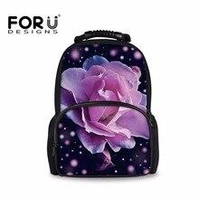 Forudesigns/розовый рюкзак с принтом для женщин сумка на ремне для девочек-подростков цветок Рюкзаки Большой Рюкзак Mochila Feminina