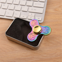 Tri Fidget Hand Spinner Metal Triangle Colorful Zinc Alloy Puzzle Finger Toy EDC Focus Fidget Spinner