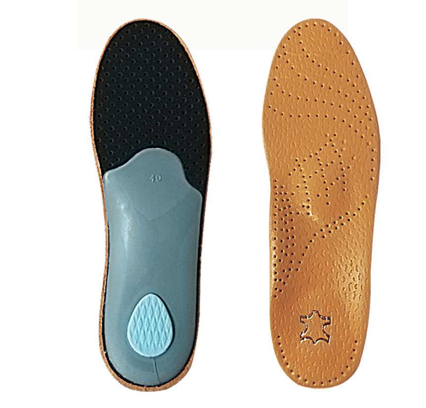 Мужской кожаный ортопедический латекс стельки для ухода за ногами Антибактериальная активная углеродная ортопедическая стелька-ступинатор супинатор плоская обувь для женщин