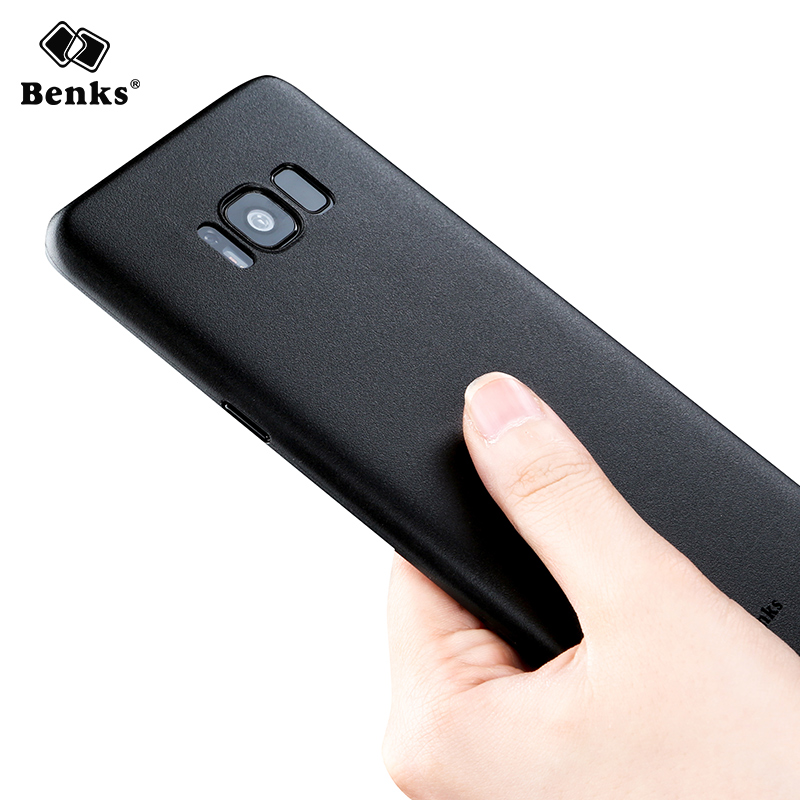 Benks 0.4mm Ultra -thin PP Full Cover Case For Samsung Galaxy S8 / Galaxy S8 Plus Super Frosted Shield black cover