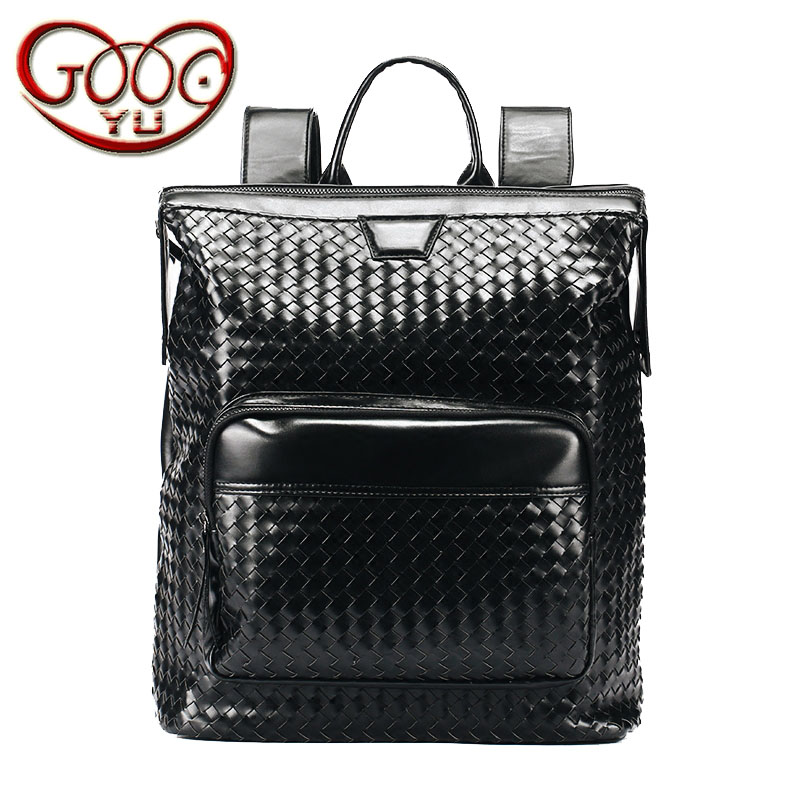 High-quality thick PU leather high-capacity  travel bag street fashion hand-made leather shoulder bag Korean mens computHigh-quality thick PU leather high-capacity  travel bag street fashion hand-made leather shoulder bag Korean mens comput