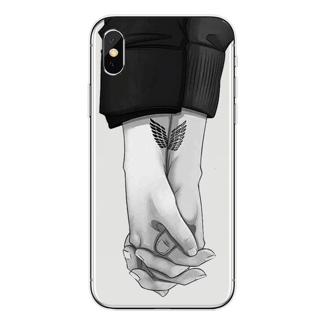 Attack on Titan Soft silicone Case Cover for iPhone