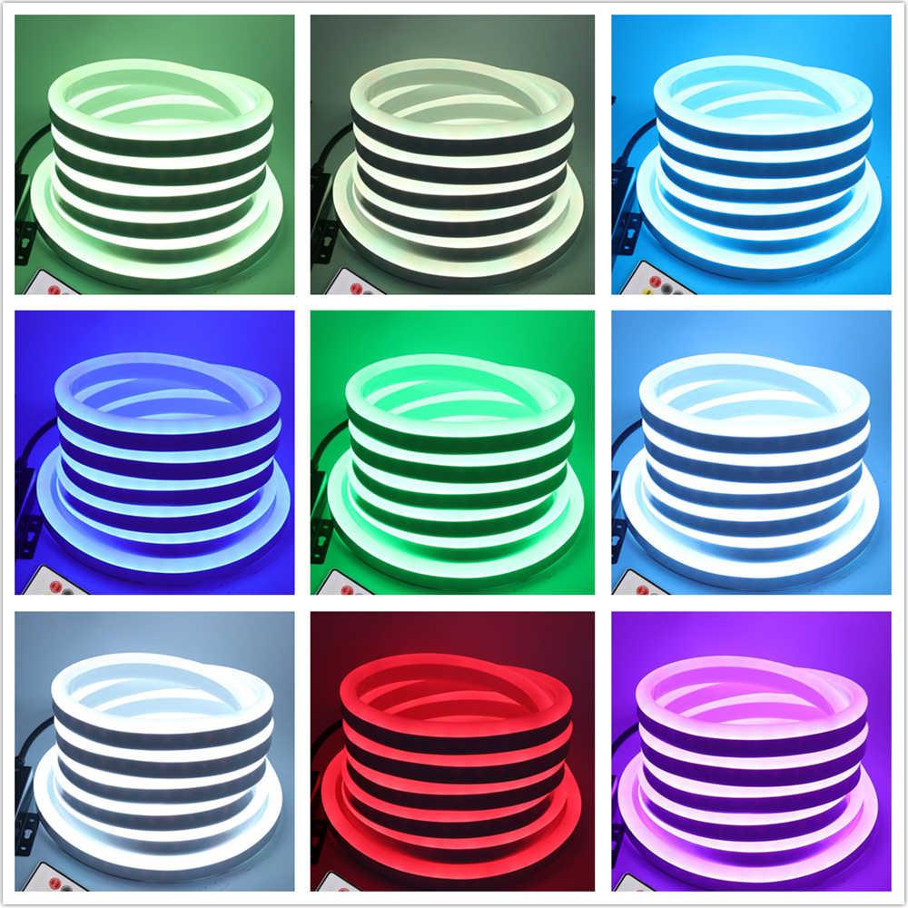 RGB Đèn Neon Ruy Băng Băng Dẻo LED Neon Ký Đèn Ngủ Đèn 2835 5050 120 Đèn LED/M Dây ĐÈN LED từ xa 24Key 110V 220V