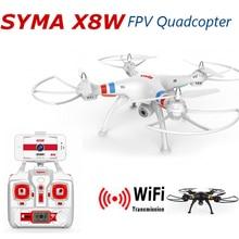 Syma X8W Drone avec Caméra HD Quadcopter FPV WiFi Réel temps Un Peu Dron 2.4G 4CH 6 Axes RC Helicoptero Gopro Hexacopter