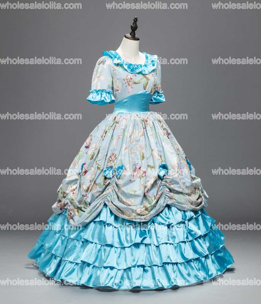 Victorian Southern Belle Civil War Ball Gown Costumes-in Scary ...