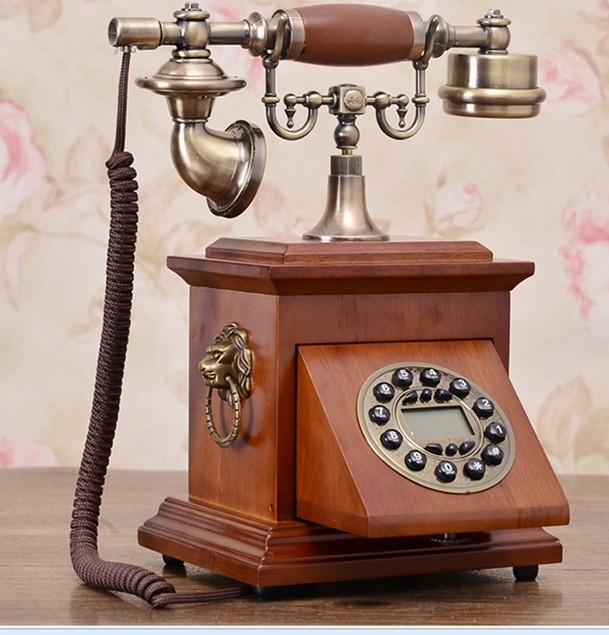 Handsfree/Blue Backlit/Caller ID European style wood antique telephones A955-in Telephones from Computer & Office    1