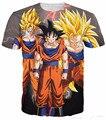 Alisister 18 estilos Nueva Moda Anime Goku Camiseta de Impresión 3D t shirt Casual camisetas divertidas mujeres/hombres de Dibujos Animados t shirt