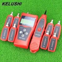 Kelushi 2020 NF 388 multiuso rede lan telefone cabo tester com 8 longe final teste jacks caça 5e 6e linha tracer|Ferramentas de rede|Computador e Escritório -
