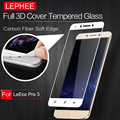 LEPHEE LEECO LE PRO 3 3D Curved Tempered Glass Screen Protector Full COVER Carbon Fiber Soft Edge Film for LETV PRO 3+Clear kits