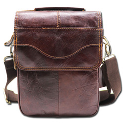 Genuine Leather 8' Casual Handbag Men's Crossbody Shoulder Bag Male Cowhide Messenger Bag Handle Pack For Cell Phone Wallet