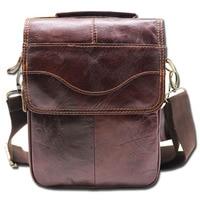 Genuine Leather 8' Casual Handbag Men's Crossbody Shoulder Bag Male Cowhide Messenger Bag Handle Pack For Cell Phone Wallet