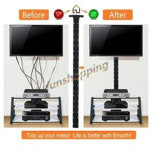 Image 2 - 1/2/4 pièces 1.2 m câble gestion manchon Flexible néoprène gaine de câble fil cordon couverture organisateur système pour PC TV téléphones câble ligne