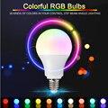 LED RGB bluetooth lâmpada de luz E27 3 W 5 W 7 W Lampada Bulbo 90-260 V SMD5050 16 Alterar cores Decorado Com Controle Remoto IR