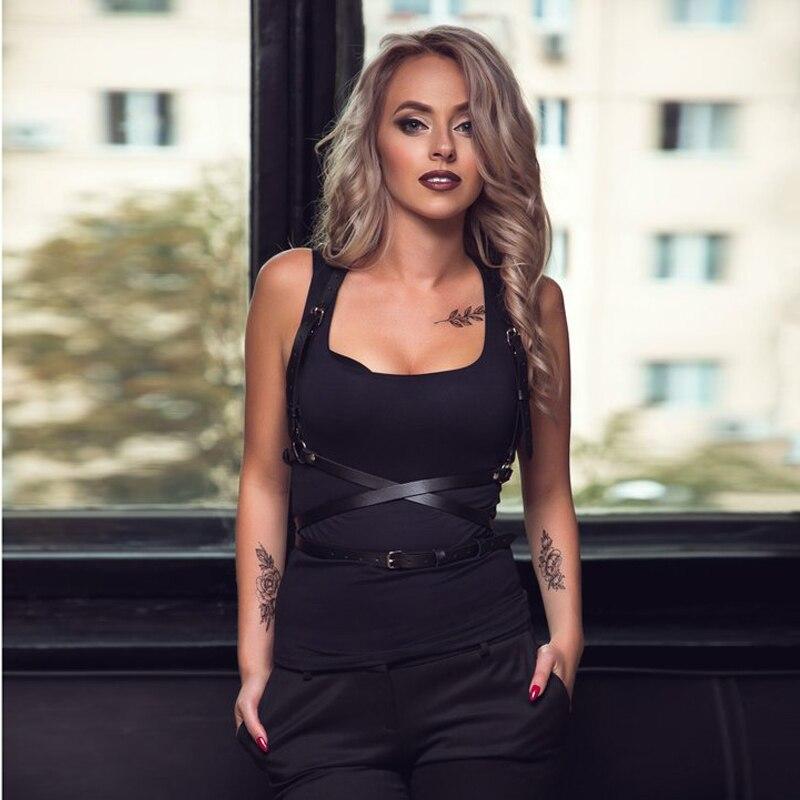 UYEE Trendy Sexy Lingerie Belt Adjustable Leather Garter Women For Female Erotic Waistband Body Suspenders Harness LB-007 2