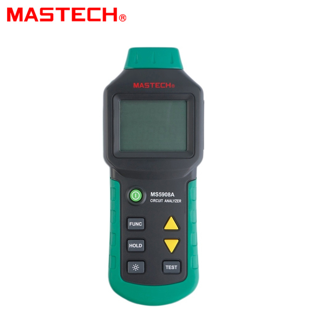 MASTECH MS5908A TRMS AC testeur de défaut de ligne de Distribution basse tension RCD GFCI test de prises