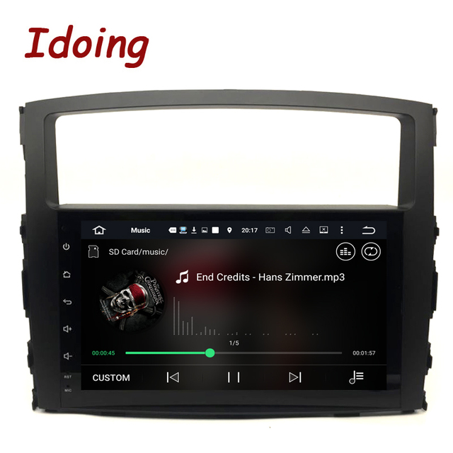 Idoing 2Din Steering-Wheel  Android7.1 4Core 2G+16G Car DVD Multimedia Video Player For MITSUBISHI PAJERO V97 Car GPS Navigation