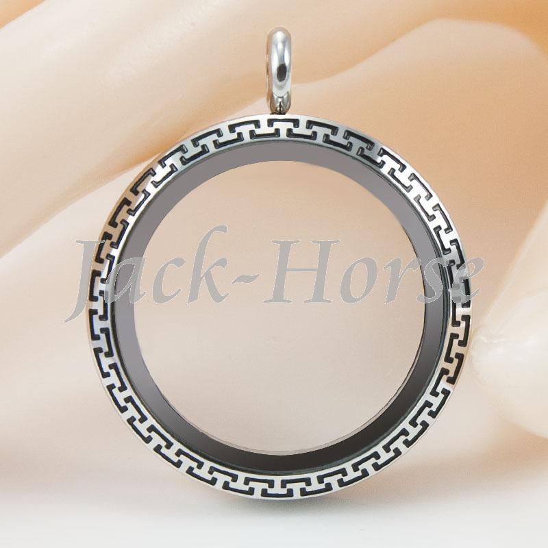 stainless steel waterproof choker necklace floating charm locket necklace torques necklace floating locket
