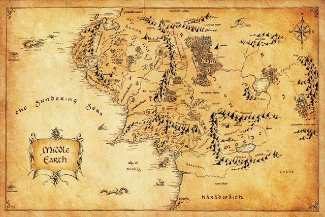 World Map Retro Wallpaper. Custom Canvas Painting The Lord of the Rings Poster Hobbit Wall Stickers Retro  World Map Wallpaper Christmas Decoration 2566 Online Shop