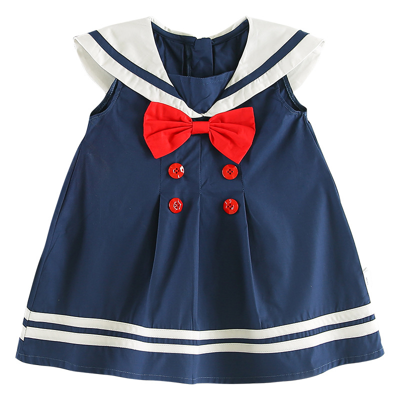 Celveroso nieuwe zomer baby meisje Jurk katoenen strik Baby - Kinderkleding - Foto 6