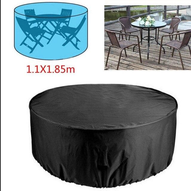 Funda redonda de 2 tamaños, cobertor para muebles de jardín, impermeable, para lluvia, nieve, para sofá, Mesa, a prueba de polvo