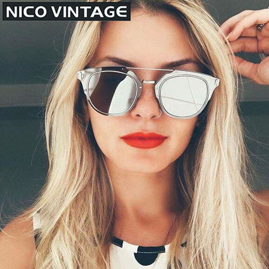 Mirrored Sunglasses Womens  aliexpress com stylish narrow face mirror las sunglasses