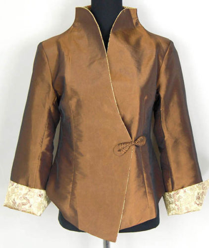 Chinese Traditional Costume Women 39 s Silk Satin Jacket Coat Size M to 2XL in Tops from Novelty amp Special Use