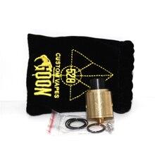 แท้528ที่กำหนดเองVapesคนโง่RDA 24มิลลิเมตรถังฉีดน้ำสีดำทองเหลืองทองแดงเงินบุหรี่อิเล็กทรอนิกส์Vaporizer