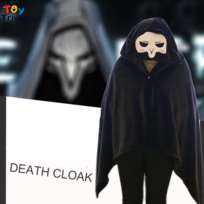 Plush OW Overwatches Grim Reaper Cloak Cape Lazy Blanket Cosplay Cloth Carnival Party Home Decoration Birthday Gift Triver