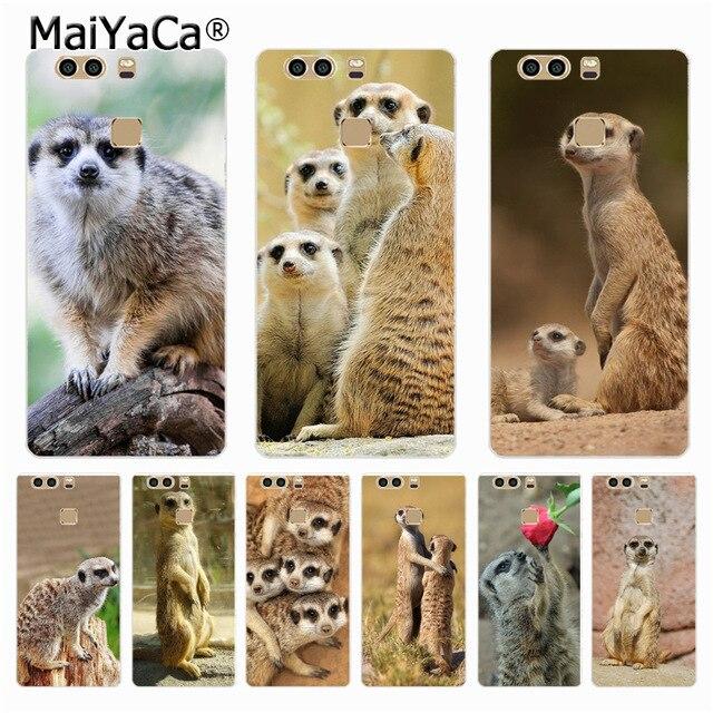 27772ca04e0 MaiYaCa animal de la mafia de suricatas de accesorios del teléfono para  Huawei P9 p6 p7