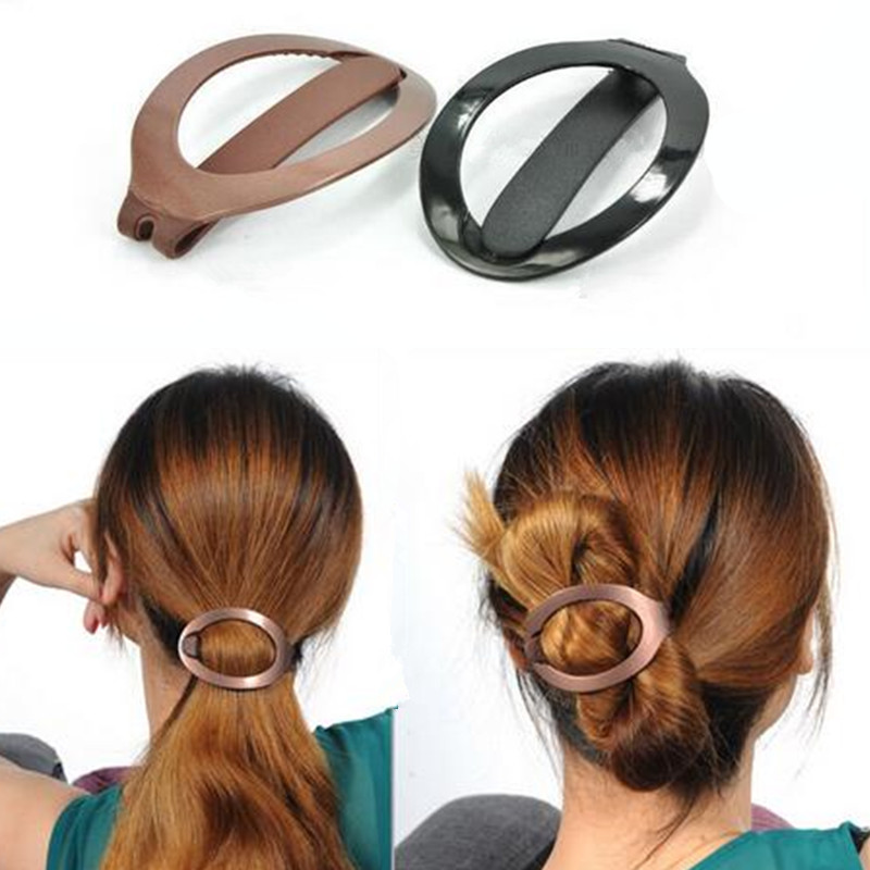 57353a245dbcf1 Klamra do włosów w kształcie elips upięcie włosów fryzura elipsa ...