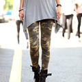 Women High Waist Skinny Stretch Leggings 2016 Spring Autumn Ladies Camouflage Pirnt Casual Trousers Slim Pencil Pants Cpris