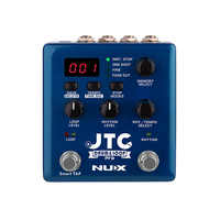 NUX JTC Drum Loop PRO Guitar Effect Pedal Auto-Recording Dual Switch Looper Pedal 6 Hours Recording Time 256 Loop Track Memories