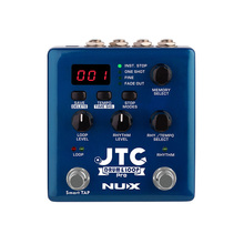 NUX JTC Pro Drum Loop Dual Switch Looper Pedal for Guitar Effect Auto Recording 6 Hours Recording Time Smart Guitarra Effects