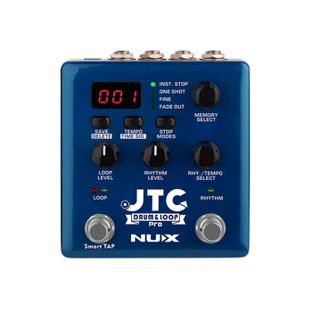 цена на NUX JTC Pro Drum Loop Dual Switch Looper Pedal for Guitar Effect Auto-Recording 6 Hours Recording Time Smart Guitarra Effects