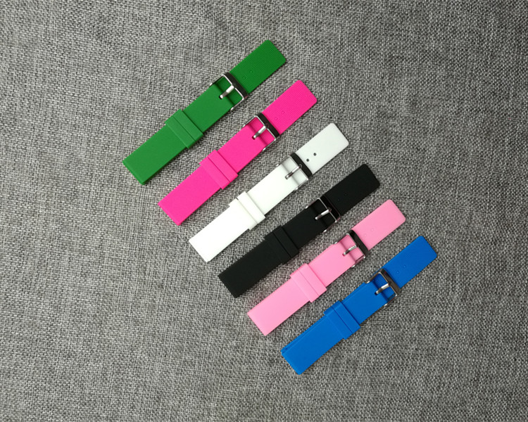 New! Candy color women s silicone strap 18 mm pin buckle waterproof children s watches tape watches and clocks accessories