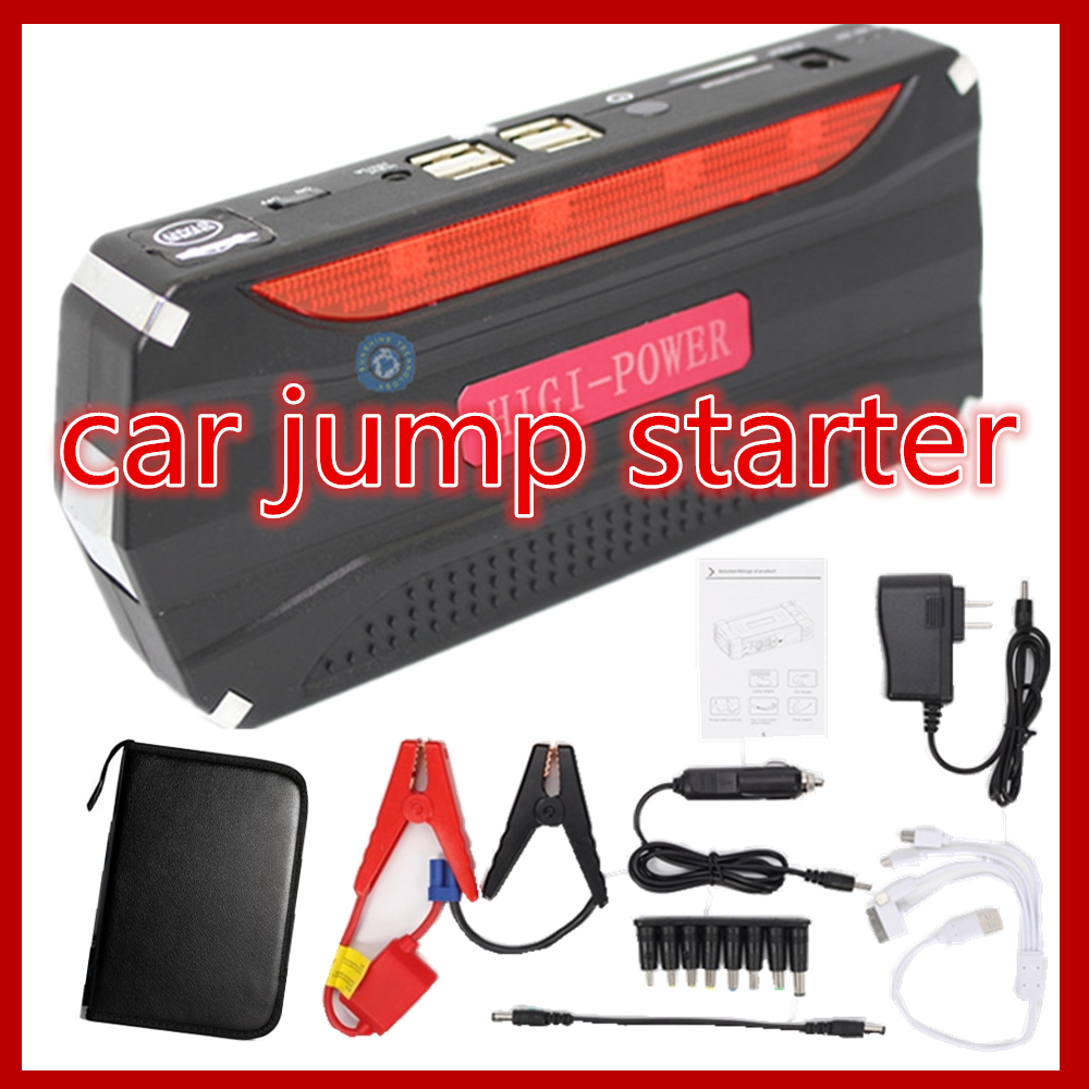 Car power bank  Car Emergency jump starter with pump auto vehicle engine booster start rechargeable battery power supply charger newest 50800mah 12v car emergency start power bank vehicle jump starter booster portable current battery charger three light hot
