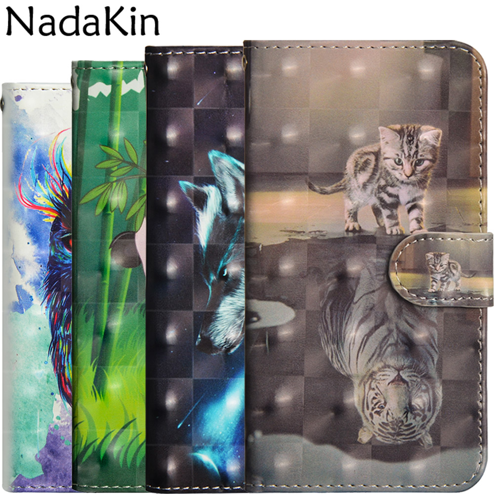 3d Painted Flip Wallet Case For Xiaomi Mi 8 Lite Stylish Book Phone Cover Shell Leather Cute Panda Owl With Card Pocket Strap Catalogues Will Be Sent Upon Request