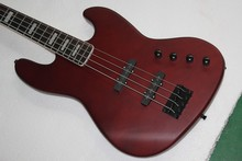 China gitarrenfabrik benutzerdefinierte 100% New Dunkelrot jazz 4 String E-bass Aktive Pickup freies verschiffen 914