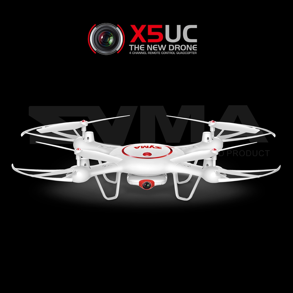 Hot Sale SYMA X5UC RC Drone FPV HD CAM 2.4G 4CH 6-axis-gyro RC Quadcopter Night Flight Helicopter With Air Press Height Hold jjrc rc helicopter 2 4g 4ch 6 axis gyro rc quadcopter rtf air press altitude hold with lcd hd camera rc drone dron hover copters