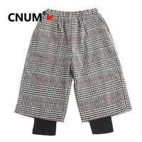 CNUM Girls Loose Pants Long Trousers Kids Pants Girls Bell Bottoms Warm Pants For winter Cotton trousers