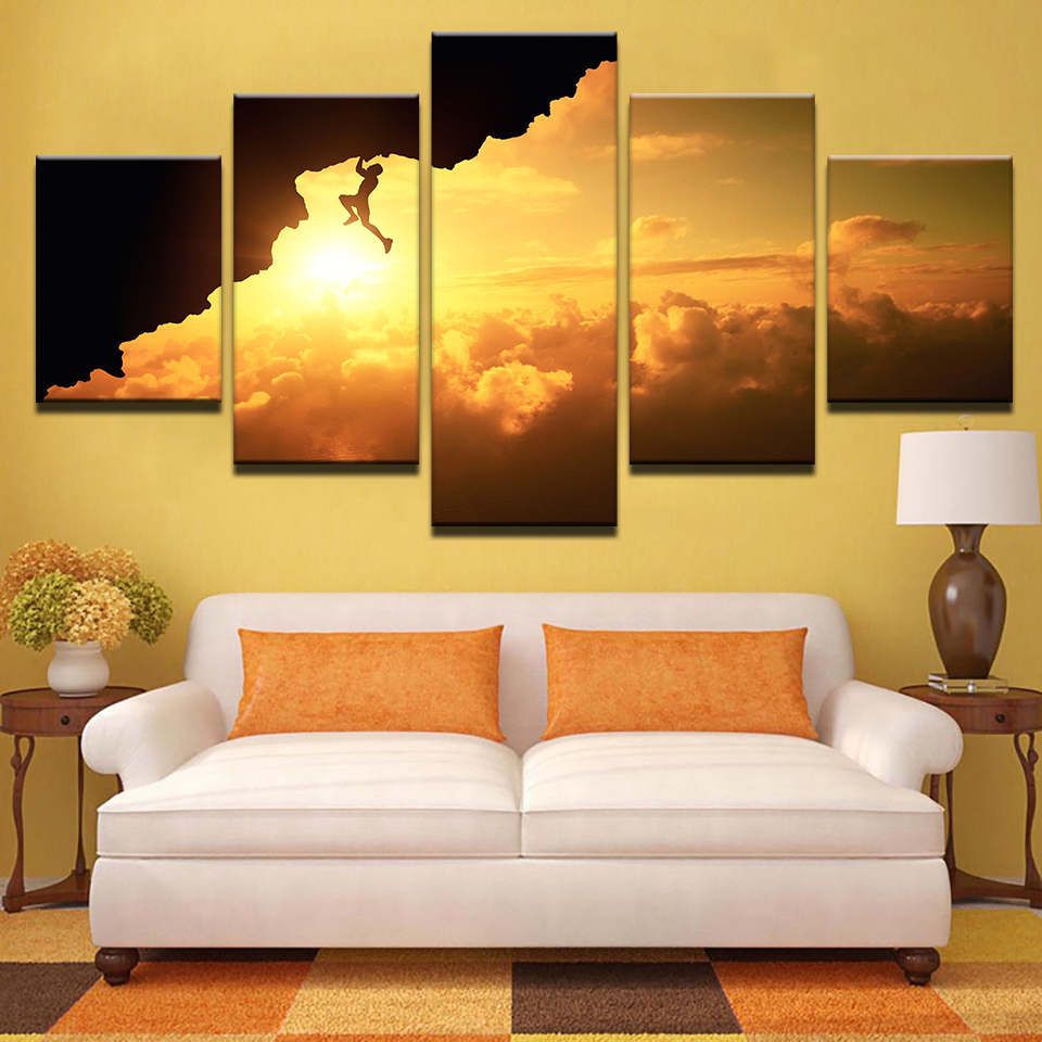 Framed Wall Art Canvas Living Room HD Prints Posters 5 Pieces ...