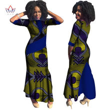 Plus Size Summer dresses women 2018 traditional african fashion Clothing  Africa Wax Dashiki long cotton dress natural 7xl WY814 69efe3b64f3e