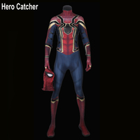 Hero Catcher High Quality 3D Print IronSipder Cosplay Costume For Man Homecoming Spiderman Suit Iron Spider