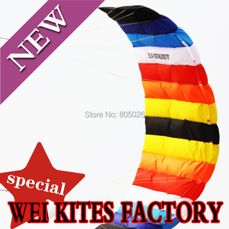 ФОТО Free shipping 2.7m dual Line Parafoil Kite Power traction stunt  kite various colors choose wei kite factory Hot sell albatross