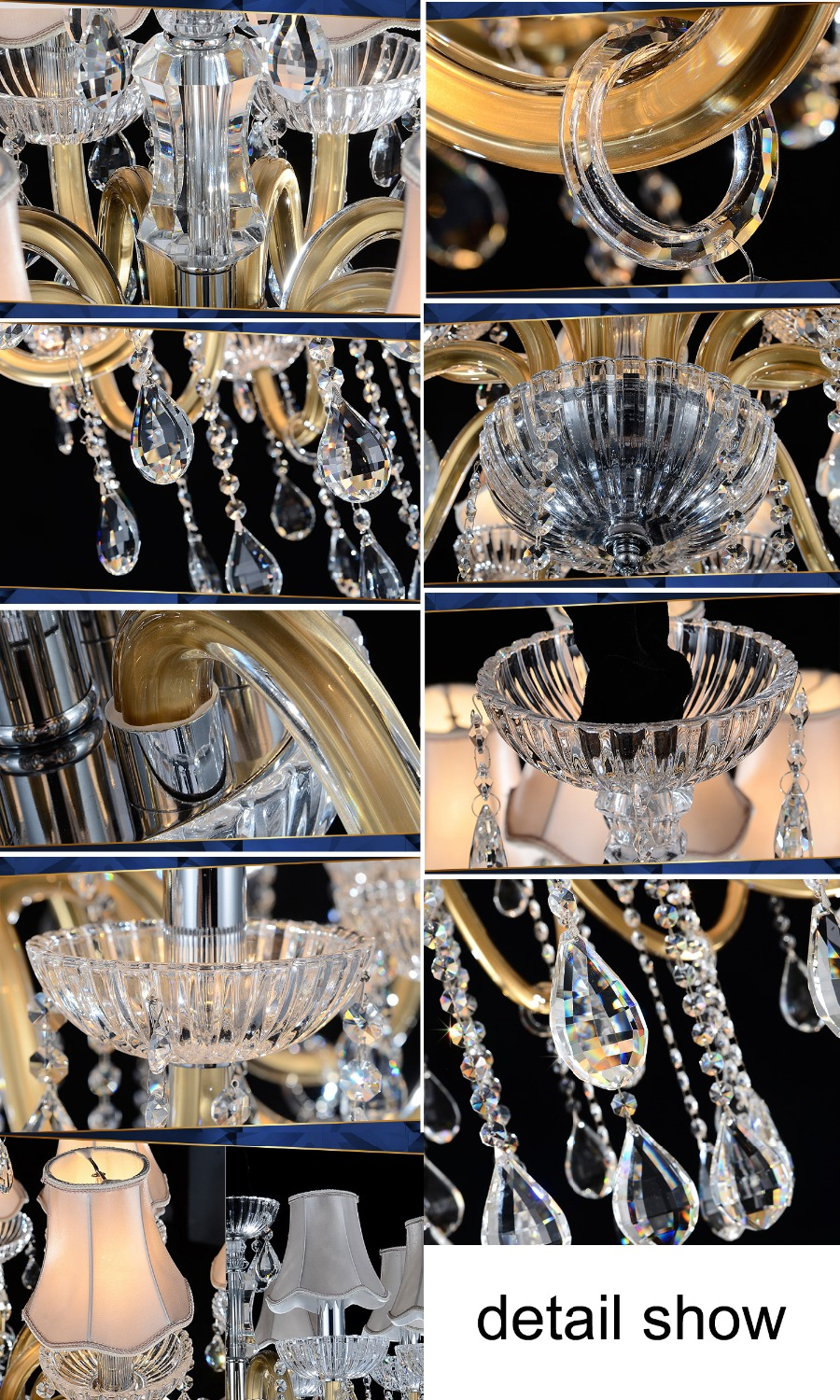 Luxury Large Chandelier Modern Sanctuary hall chandeliers with shade - Indoor Lighting - Photo 6