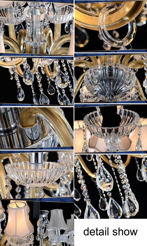 Луксозен голям полилей Модерен - Вътрешно осветление - Снимка 6